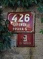 Dolní Černošice, Na bluku 426, staré a nové popisné číslo.jpg