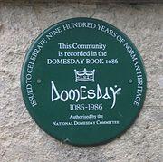 Domesday plaque