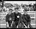 Don Pettie, John Treloar, Bill de Gruchy 1950.jpg