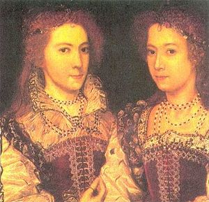 1581 in art - Image: Dorothy and Penelope Devereux