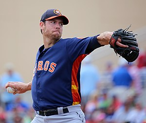 Doug Fister - Fister pitching for the Houston Astros in 2016 spring training