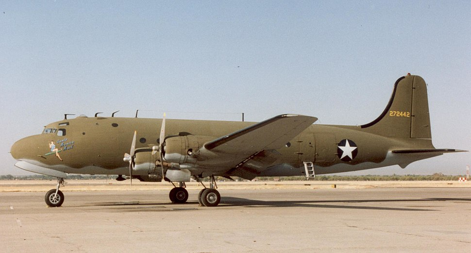 Douglas C-54D USAAF wartime markings Chico CA 08.10.92