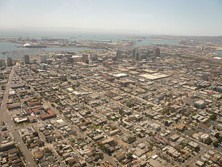 Downtown Long Beach Neighborhood of Long Beach in Los Angeles, California, United States