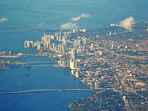 Greater Downtown Miami - An aerial view of Downtown, including the neighborhoods of Brickell, Park West, Omni and Edgewater.