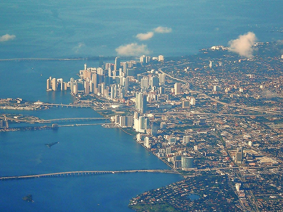 Downtown Miami aerial 2008