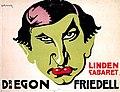 Dr. Egon Friedell im Lindencabaret, Berlin. Plakat, 1913.jpg