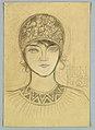 Drawing, Head and Shoulders of Female Wearing Cloche- Ellen Nutaar, 1922 (CH 18410145).jpg