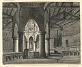 Drawing, Stage Design, Interior of Gothic Chapel, 1831 (CH 18359339).jpg