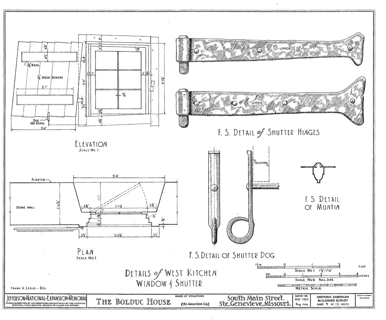 Shuttering Details For Wall : File drawing of window and shutter details in the bolduc