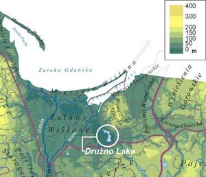 Drużno - Location of Druzno Lake