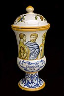 Drug jar for cinchona bark, Italy, 1701-1730 Wellcome L0057626.jpg