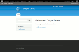 Screenshot di Drupal