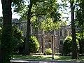 Duane Library behind the trees, Fordham University.jpg