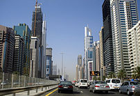 Skyscrapers on Sheikh Zayed Road in May 2006