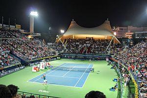 Dubai Tennis Championships - The 2014 Dubai Tennis Championships semifinal featuring Roger Federer and Novak Djokovic