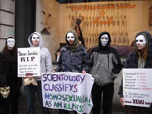 Dublin Anonymous anti-Scientology protest