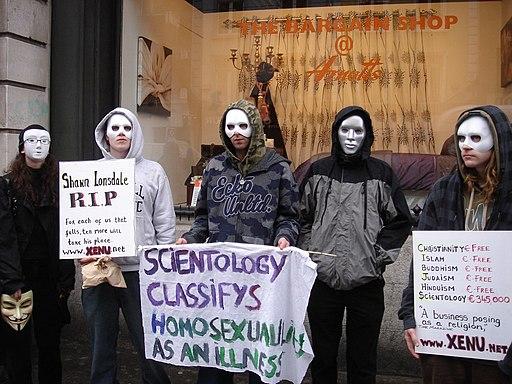 Dublin Anonymous anti-Scientology protest