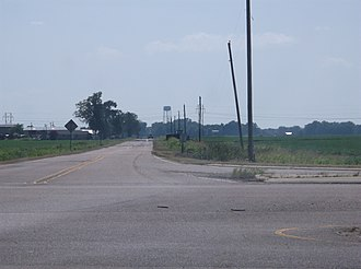 Dundee, Mississippi - Image: Dundee View From 61