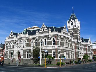 Law of New Zealand - The Dunedin Law Courts, built in 1902