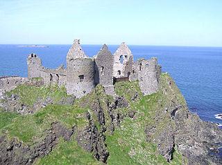 Dunluce Castle on north Irish coast