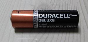 Duracell - A Duracell AA battery