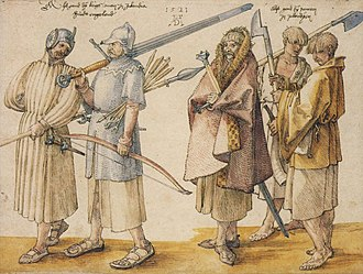 History of Ireland - Irish soldiers, 1521 – by Albrecht Dürer.