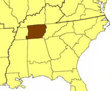 Location of the Diocese of Tennessee