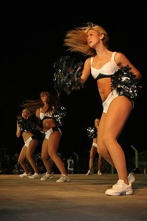 Philadelphia Eagles Cheerleaders - Image: Eagles Cheerleaders Opening Routine June 7 08