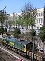 East London Line extension trackwork. Freightliner 66.jpg