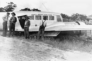 East-West Airlines (Australia) - East-West Airlines Avro Anson crash at Pozieres, Queensland, 1950