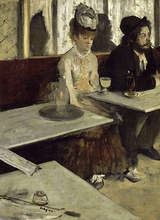 Edgar Degas - L'Absinthe, 1876, oil on canvas, by Edgar Degas