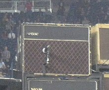 ac30. the edge\u0027s almost-original vox ac30/6 from 1964, housed in a \u002770s cabinet on stage. it is known that \u0027brilliant\u0027 model (or top boost) and was ac30