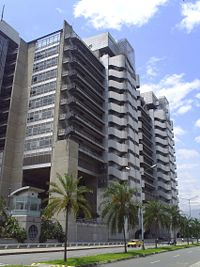 "Edificio Inteligente (The ""Intelligent Tower""), headquarters of the Public Enterprises of Medellín (EEPPM)."