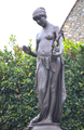 Edward Onslow Ford (1852-1901) - The Muse of Poetry (1891) front part left, Marlowe Memorial nr Marlowe Theatre, The Friars, Canterbury, UK, October 2012 (8111622712).png