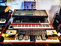 Effects units on synthesizer stack - Mu-tron Bi-Phase, Oberheim Xpander, Moog memorymoog, Sequencial Circuits Prophet-T8, etc - La Siesta del Fauno Estudio-Laboratorio (2016-07-05 18.38.58 by Andrés Galeotti).jpg