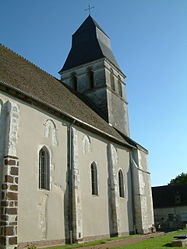 The church of Saint-Christophe, in Rians
