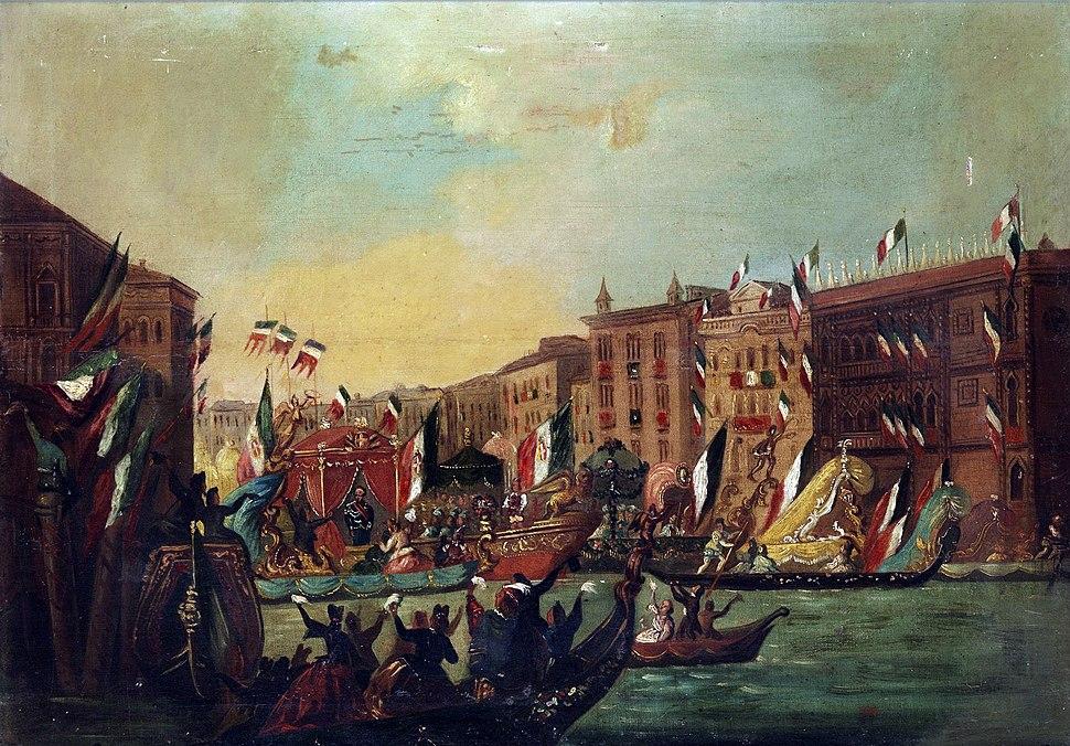 Einzug Vittorio Emanuels in Venedig 1