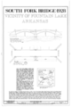 Elevation and Plan - South Fork Bridge, Spans South Fork of Saline River, adjacent to State Highway 128, Fountain Lake, Garland County, AR HAER ARK,26-FOLA.V,1- (sheet 1 of 1).png