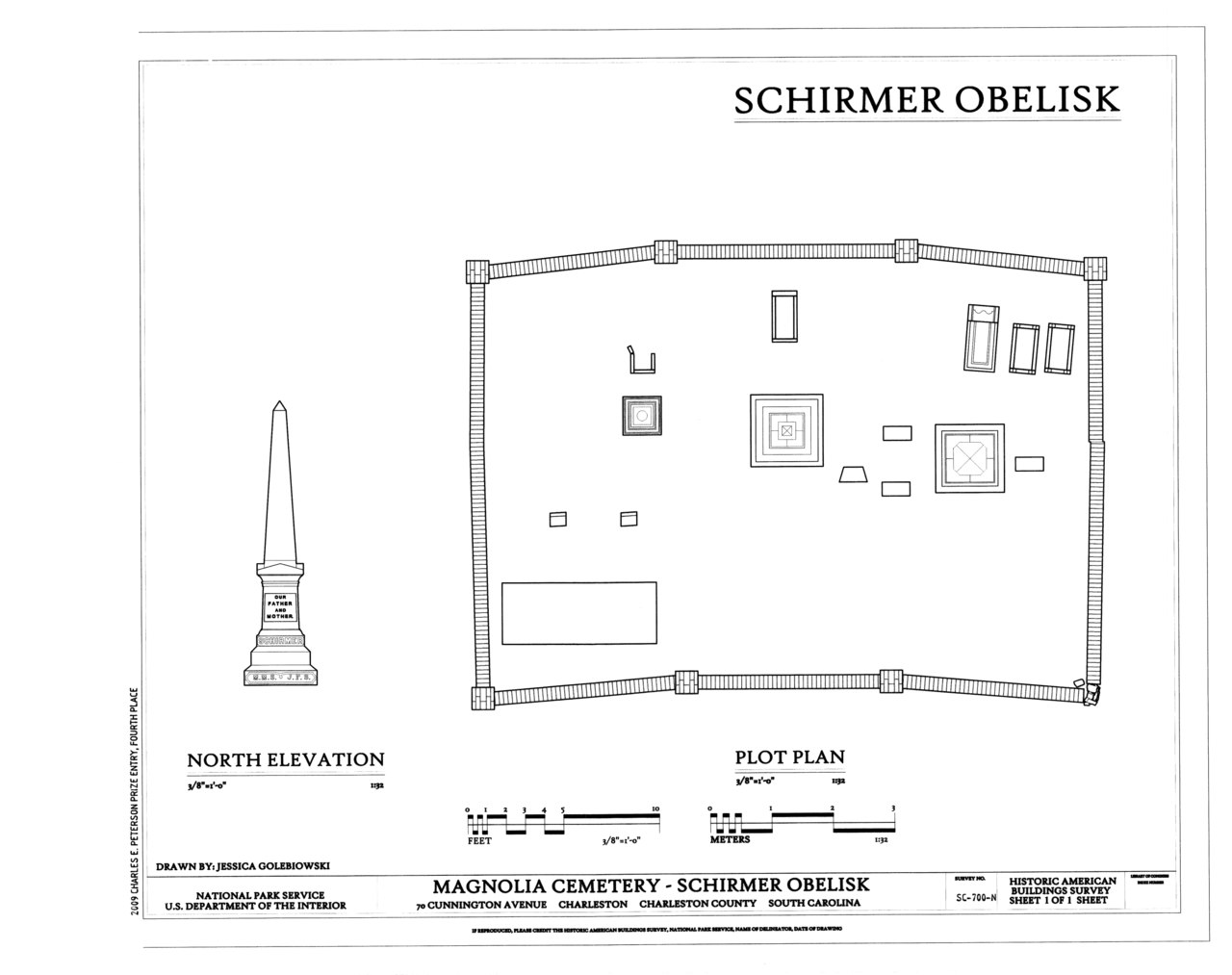 File elevation and plot plan magnolia cemetery schirmer for Plot plan drawing software