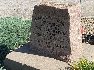 Ellinwood, Kansas - Santa Fe Trail DAR marker in Ellinwood