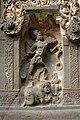 Ellora Caves, India, Rock-cut Hindu god carvings.jpg
