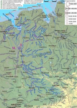 Flusssystem der Ems