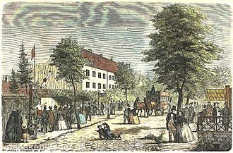 Allégade - A Sundag in Allégade, illustration from Illustreret Tidende (1861)