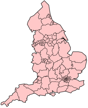 Nottinghamshire - Image: England Subdivisions 1996