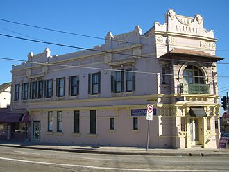 Enmore, New South Wales - Victorian commercial building, Enmore and Edgeware Roads