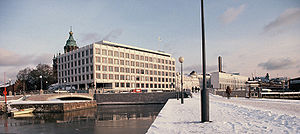 Stora Enso - Headquarters built for Enso-Gutzeit Oy in the port area of Helsinki, designed by Alvar Aalto, 1962