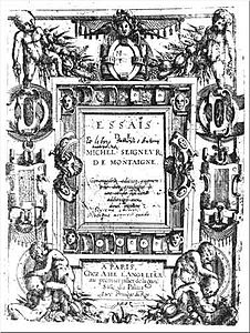 wikipedia montaigne essays pdf