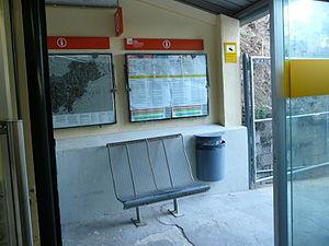 Vallvidrera Funicular - Image: Estació Carretera de les Aigües Funicular de Vallvidrera P1250469