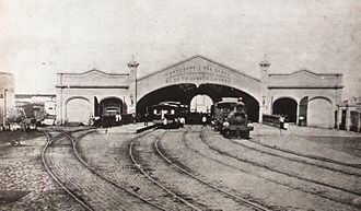 Buenos Aires Western Railway - Del Parque was the main station, then demolished in 1889.