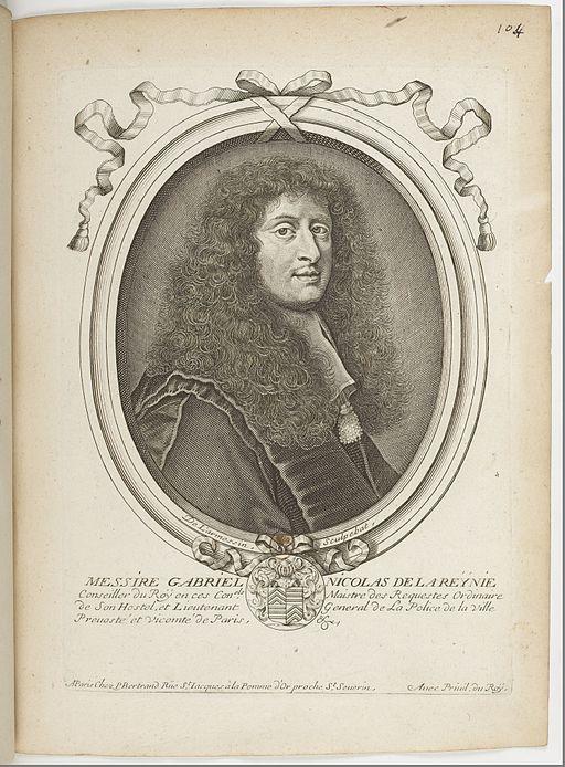 Estampes par Nicolas de Larmessin.f112.Gabriel-Nicolas de la Reynie, lieutenant général de police